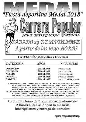 Carrera Popular Medal