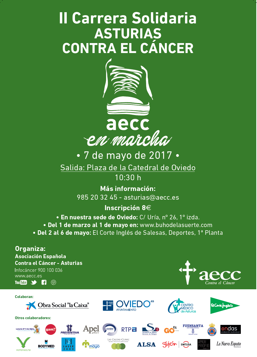 Carrera Solidaria Asturias Contra El Cáncer Aecc En Marcha 2017 Carreras Populares En Asturias La Nueva España