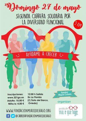 "Carrera Solidaria por la diversidad funcional ""Ayúdame a crecer"""