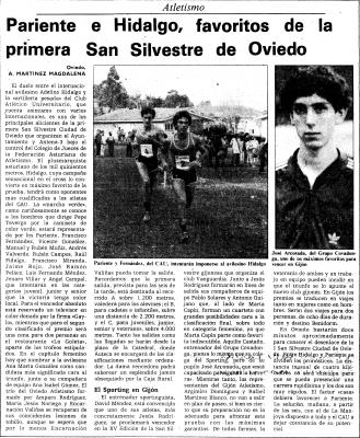 San Silvestre Oviedo 1984