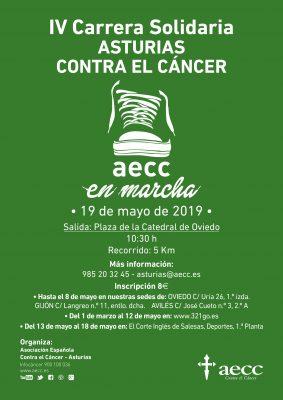 """Carrera Solidaria """"Asturias contra el Cáncer, AECC en marcha"""""""