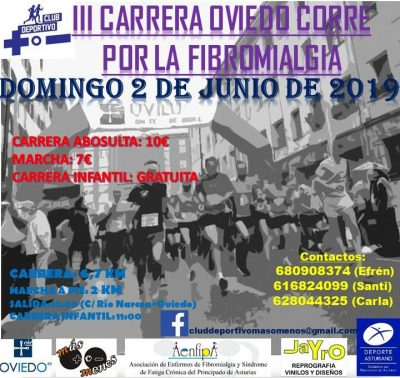 Carrera Popular Oviedo corre por ... la Fibromialgia