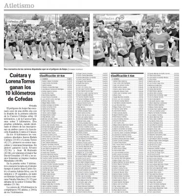 Carrera Popular Solidaria COFEDAS 5km y 10km 2015