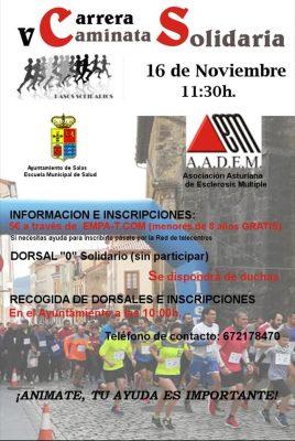 Carrera Caminata Solidaria de Salas