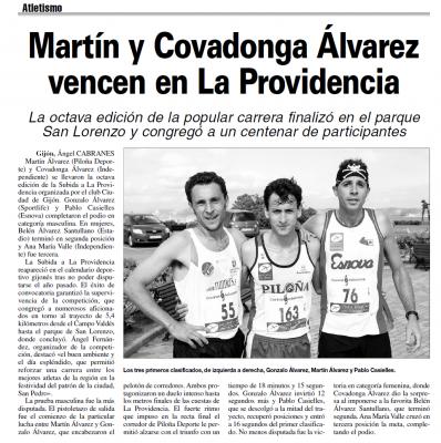 """Carrera """"Subida a la Providencia"""" 2008"""